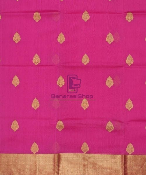 Banarasi Pure Handloom Silk Cotton Pink Saree 4