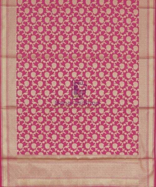 Banarasi Handloom Fuschia Pink Dupatta 3