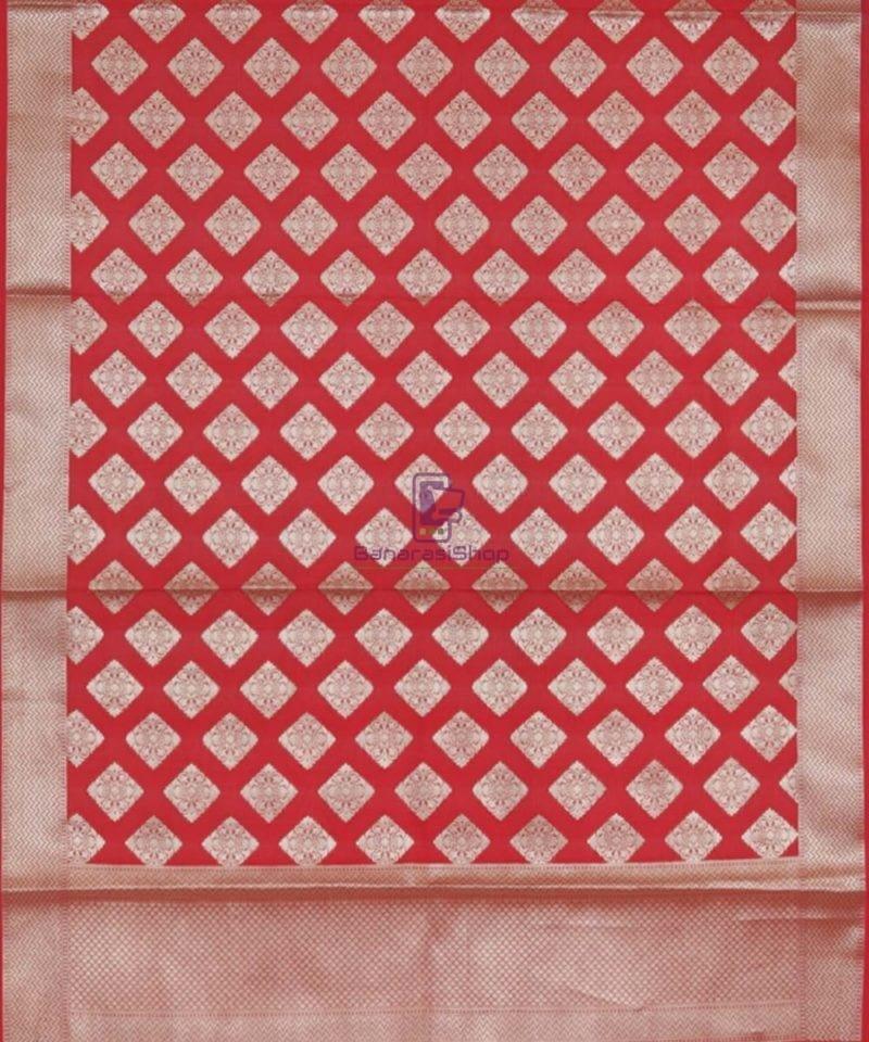 Handloom Banarasi Crimson Red Dupatta 3