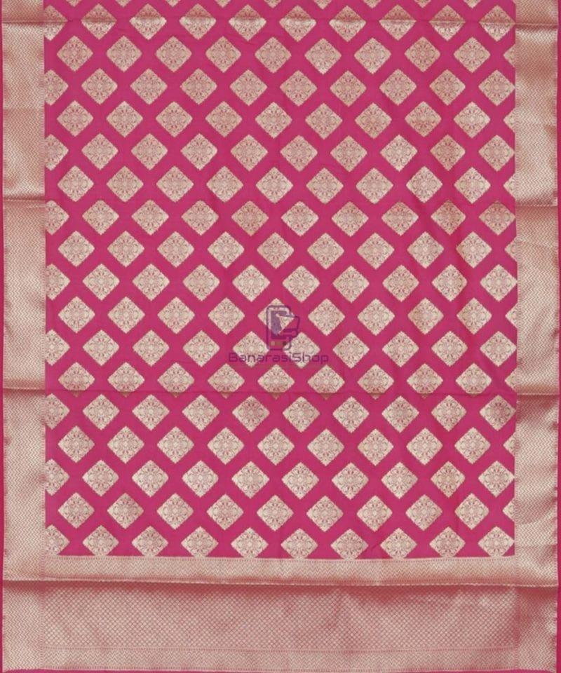 Banarasi Handwoven Magenta Dupatta 3