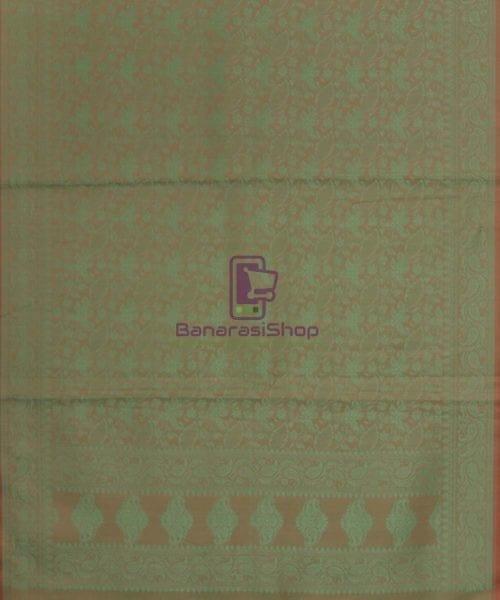 Handloom Banarasi Hazelnut Green Stole 5
