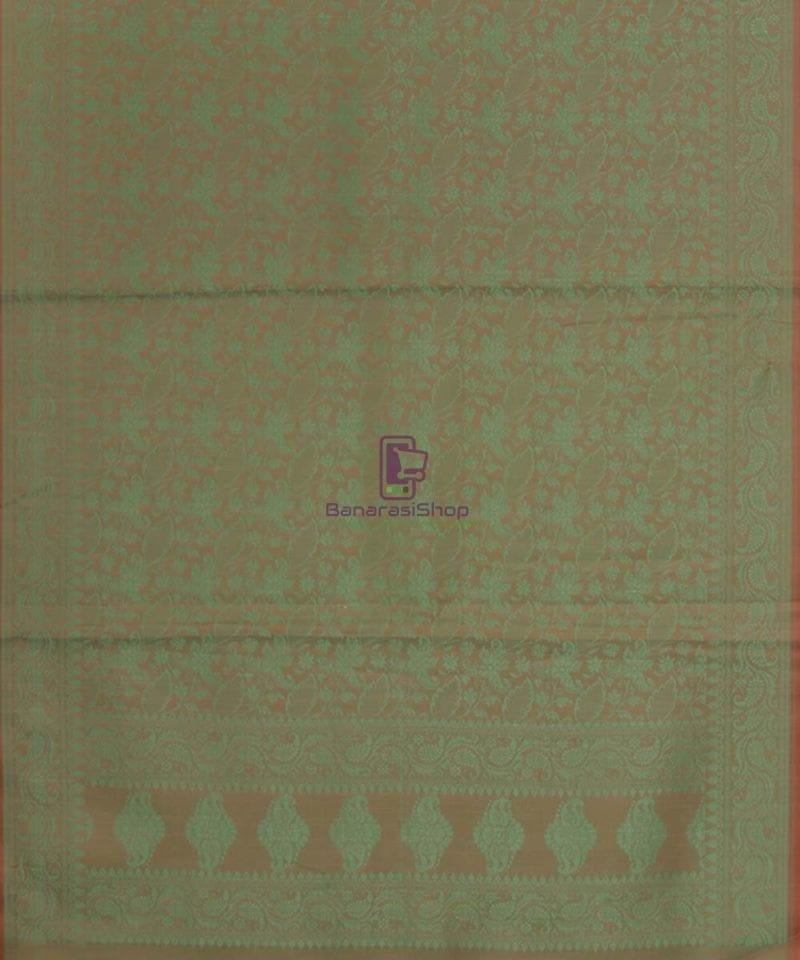 Handloom Banarasi Hazelnut Green Stole 3