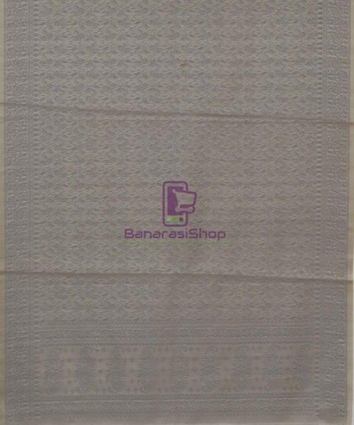 Handloom Banarasi Hazelnut Grey Wood Stole 5