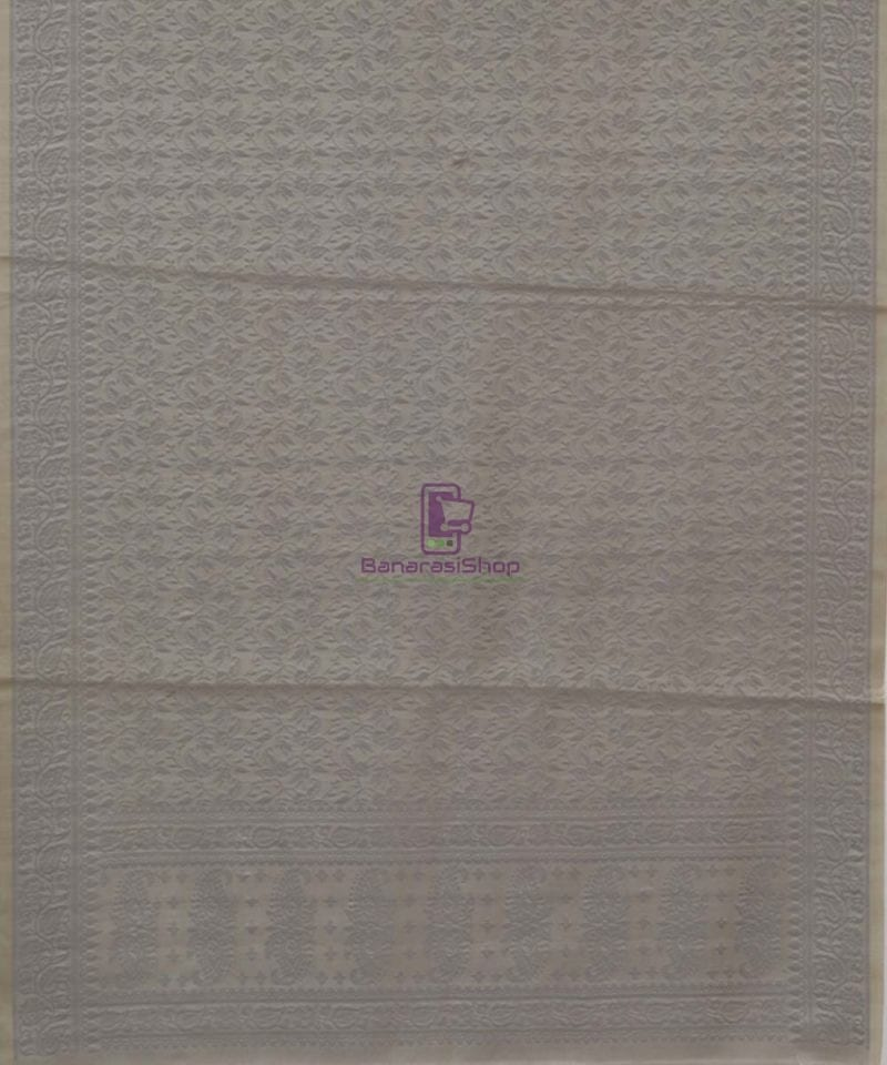 Handloom Banarasi Hazelnut Grey Wood Stole 3