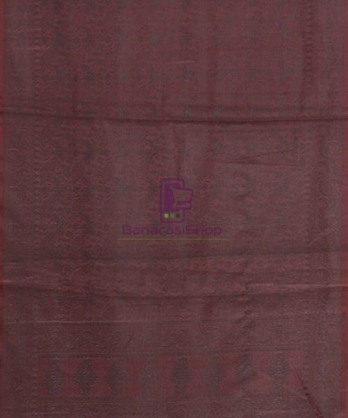Banarasi Tanchoi Silk Grape Handloom Stole 5
