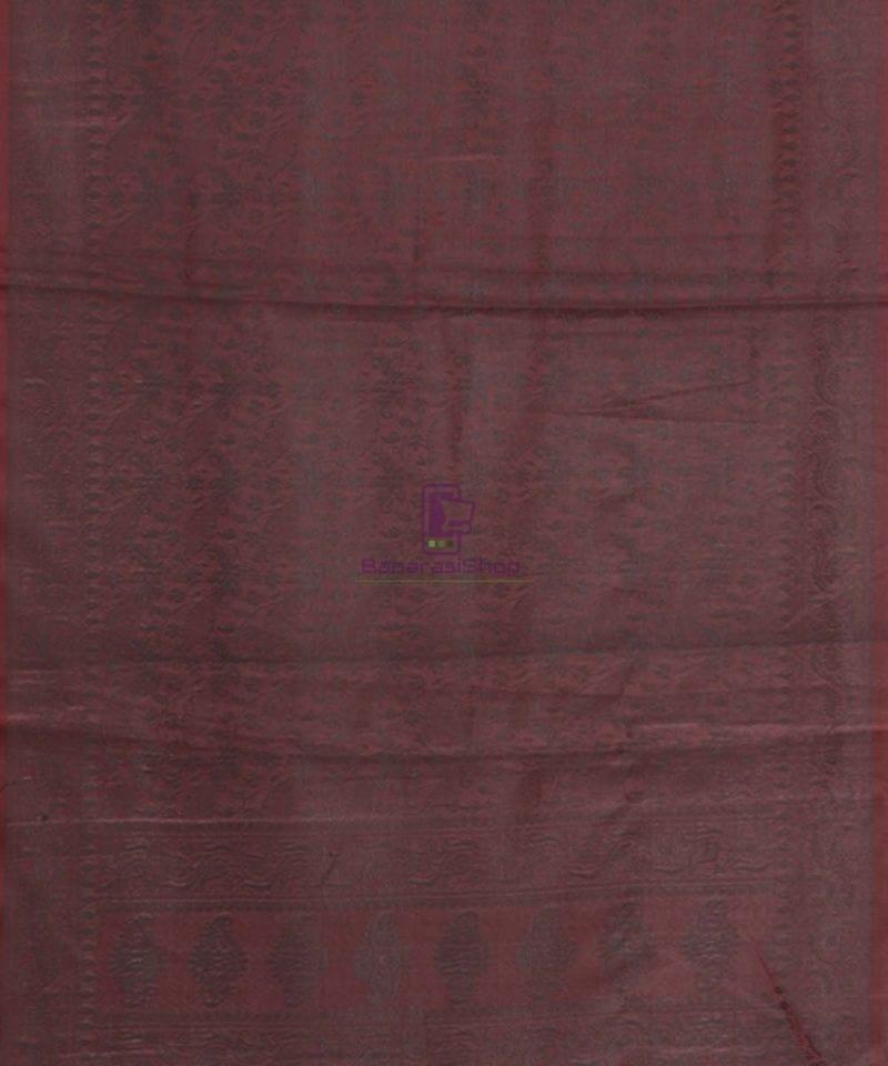Banarasi Tanchoi Silk Grape Handloom Stole 3
