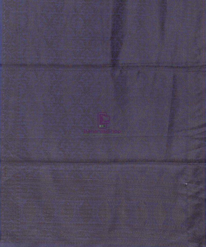 Handloom Banarasi Tanchoi Denim Blue Stole 3