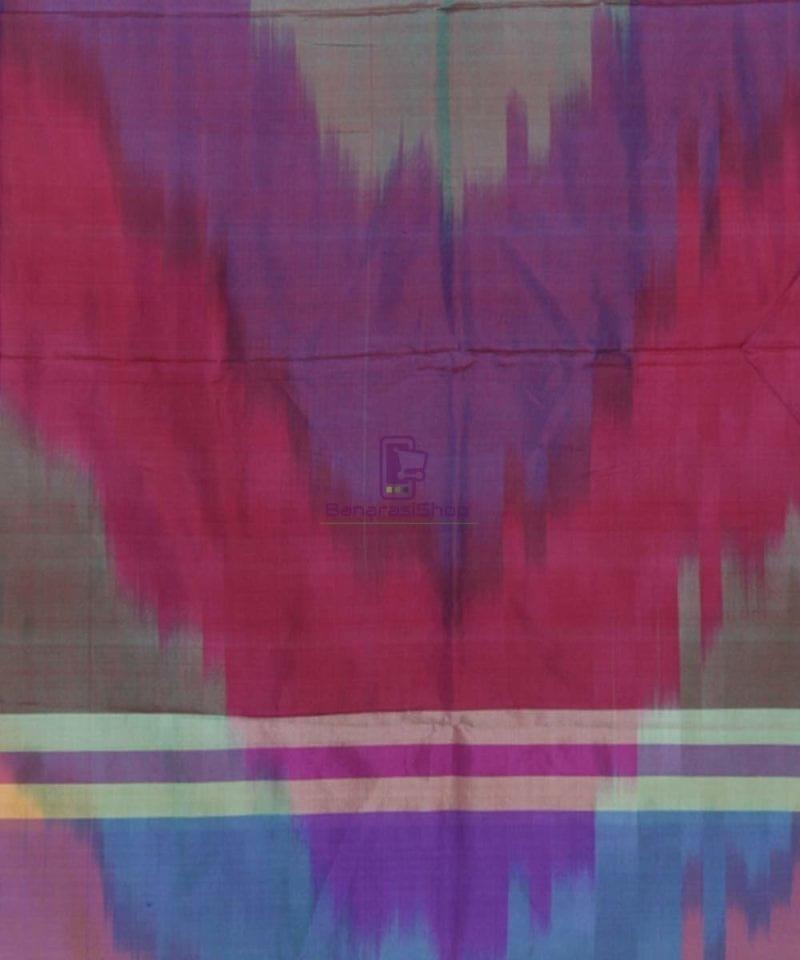 Multicolour Handloom Banarasi Tanchoi Stole 3