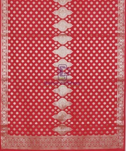 Handloom Banarasi Rose Red Dupatta 4