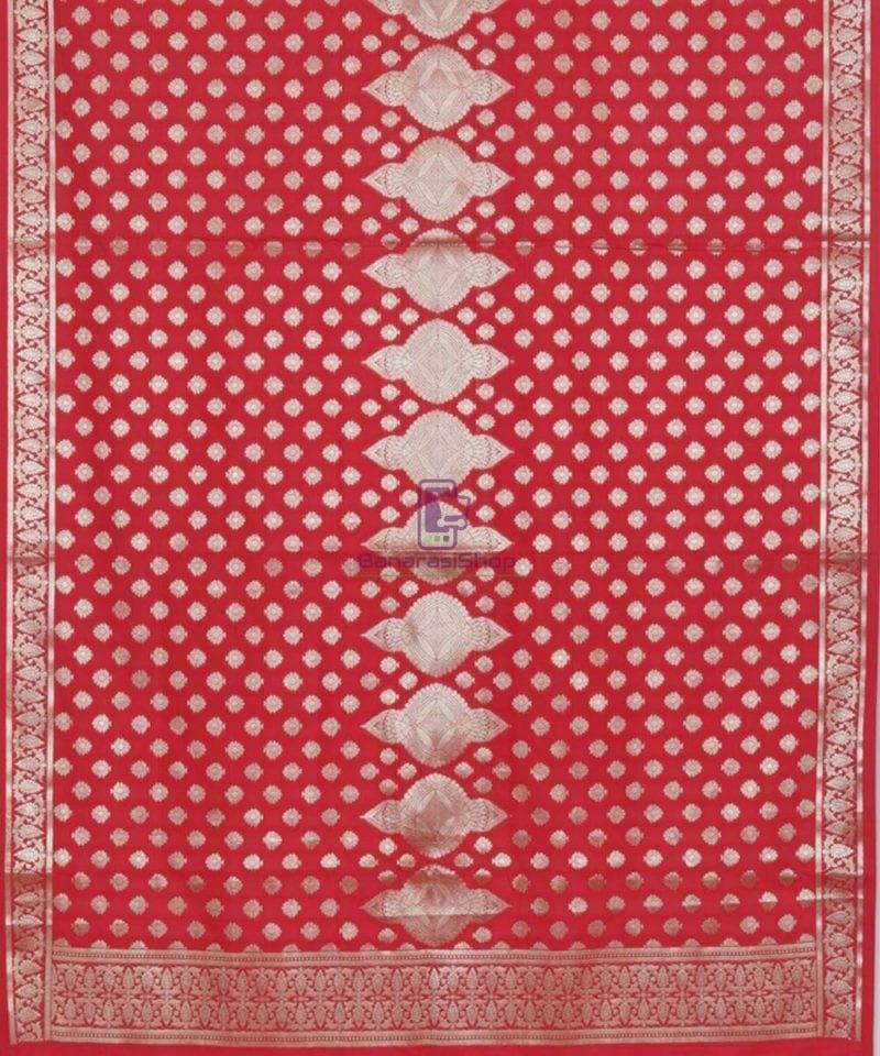 Handloom Banarasi Rose Red Dupatta 2