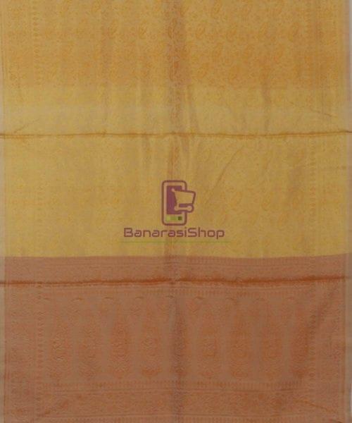 Handloom Banarasi Macaroon and Sepia Stole 5