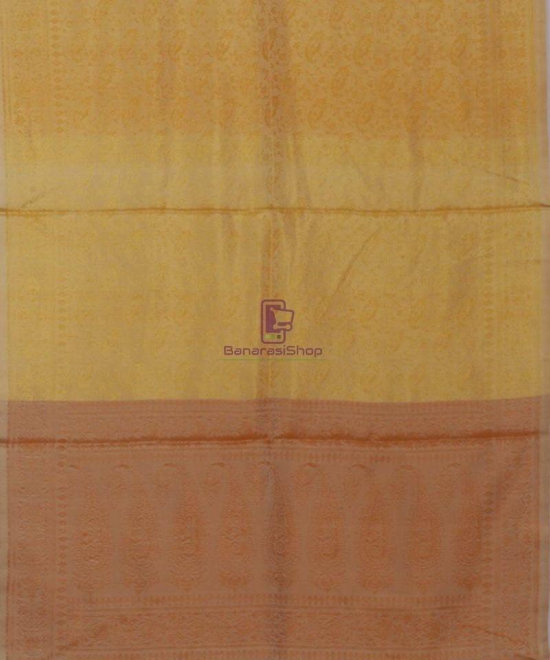 Handloom Banarasi Macaroon and Sepia Stole 3