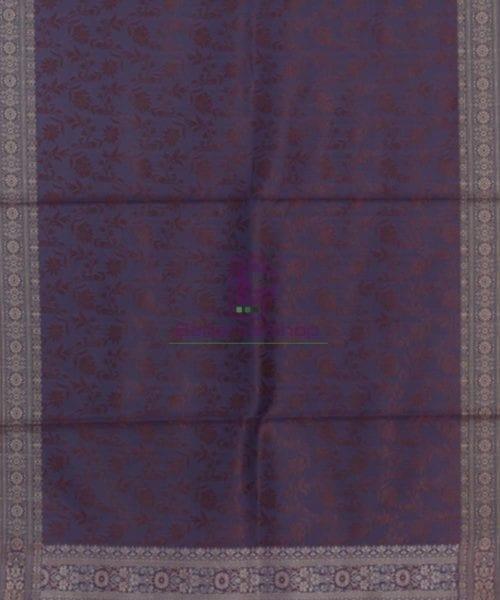 Handloom Banarasi Tanchoi Violet Stole 5