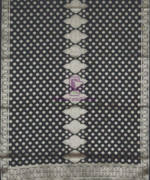 Banarasi Handloom Shadow Black Dupatta 5