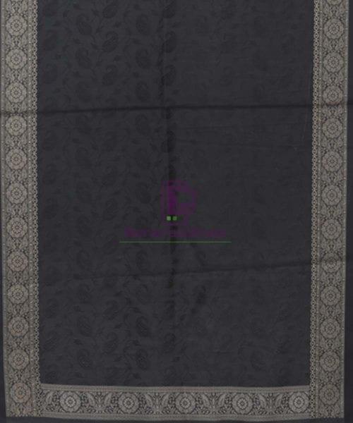 Handloom Banarasi Tanchoi Black Stole 5