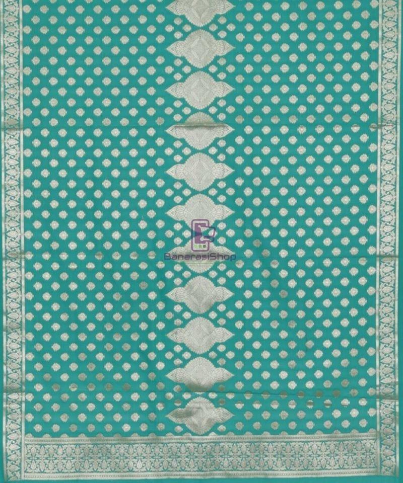 Banarasi Handloom Cerulean Blue Dupatta 3