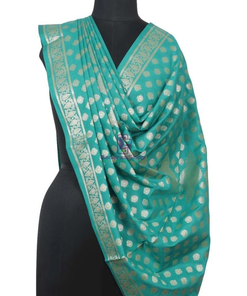 Banarasi Handloom Cerulean Blue Dupatta 1