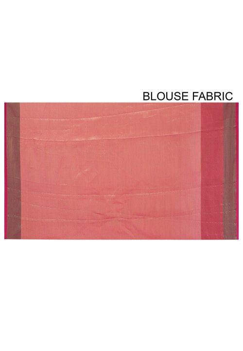 Banarasi Cotton Silk Saree in Orange 6