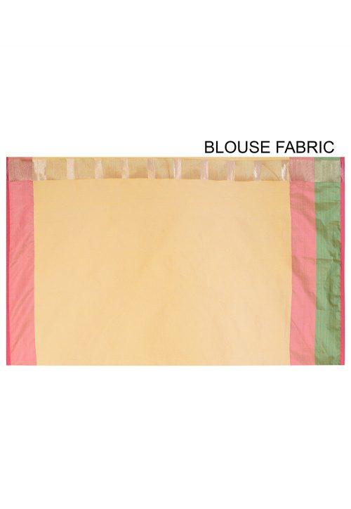 Banarasi Cotton Silk Saree in Yellow 6