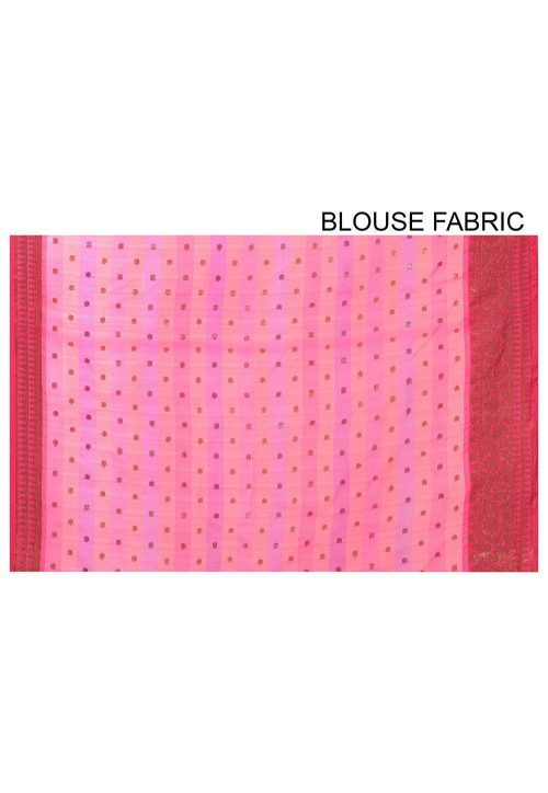 Banarasi Cotton Silk Saree in Multicolor 6