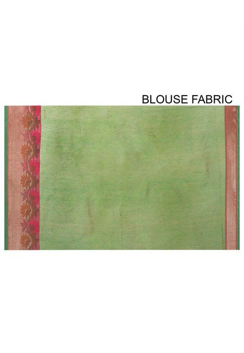 Banarasi Cotton Silk Saree in Orange 8