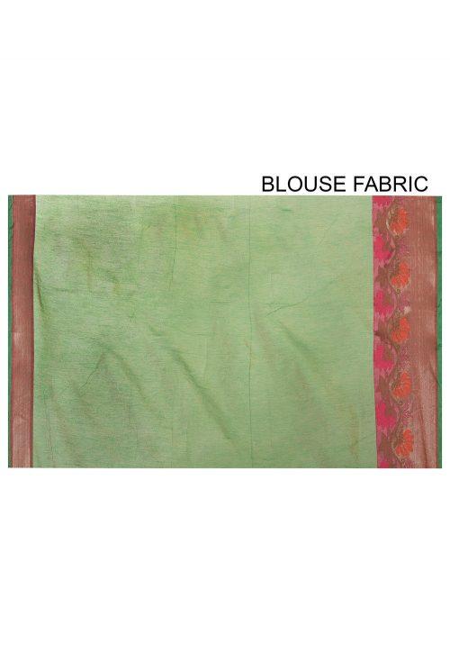 Banarasi Cotton Silk Saree in Pink 6