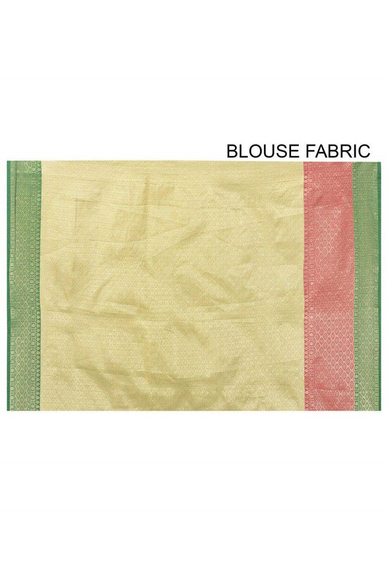 Banarasi Cotton Silk Saree in Fuchsia 3
