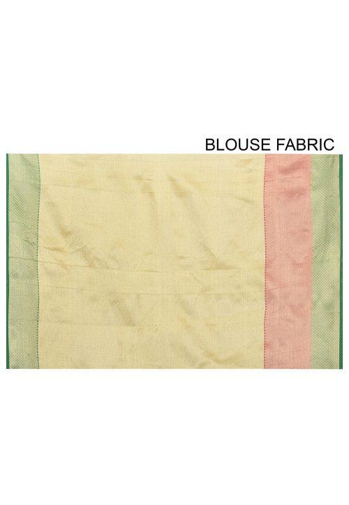 Banarasi Cotton Silk Saree in Light Green 6