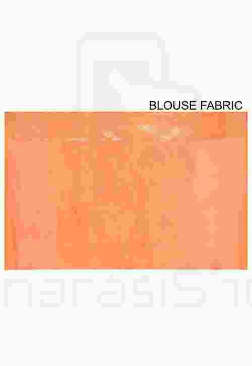 Pure Silk Banarasi Saree in Orange 6