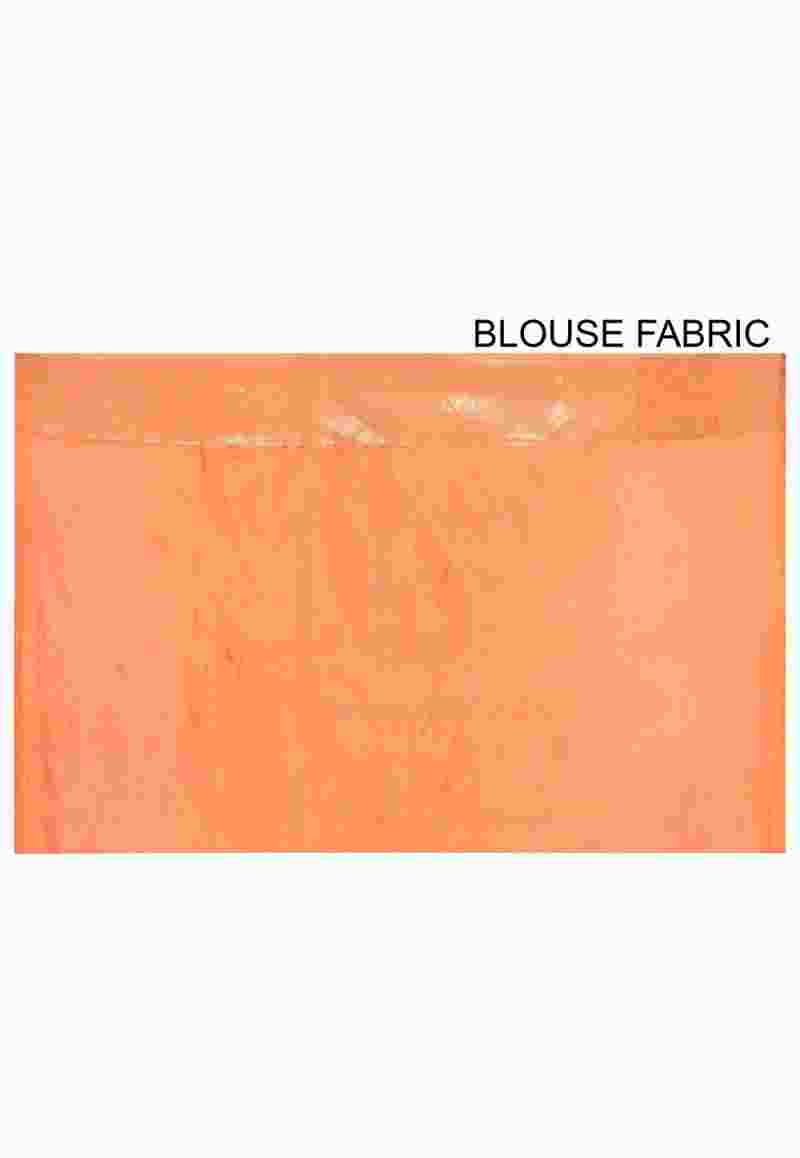 Pure Silk Banarasi Saree in Orange 3