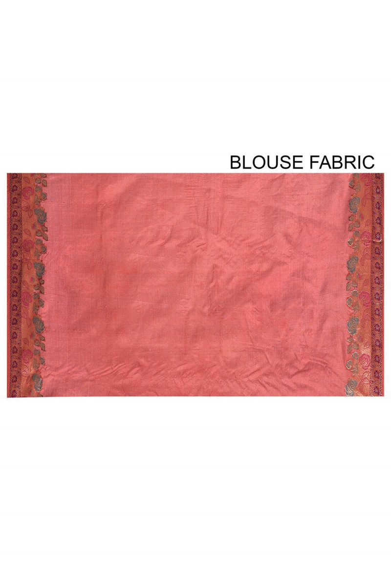 Pure Tussar Silk Banarasi Saree in Maroon 3