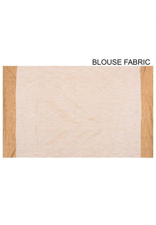 Pure Tussar Silk Banarasi Saree in Off White 6