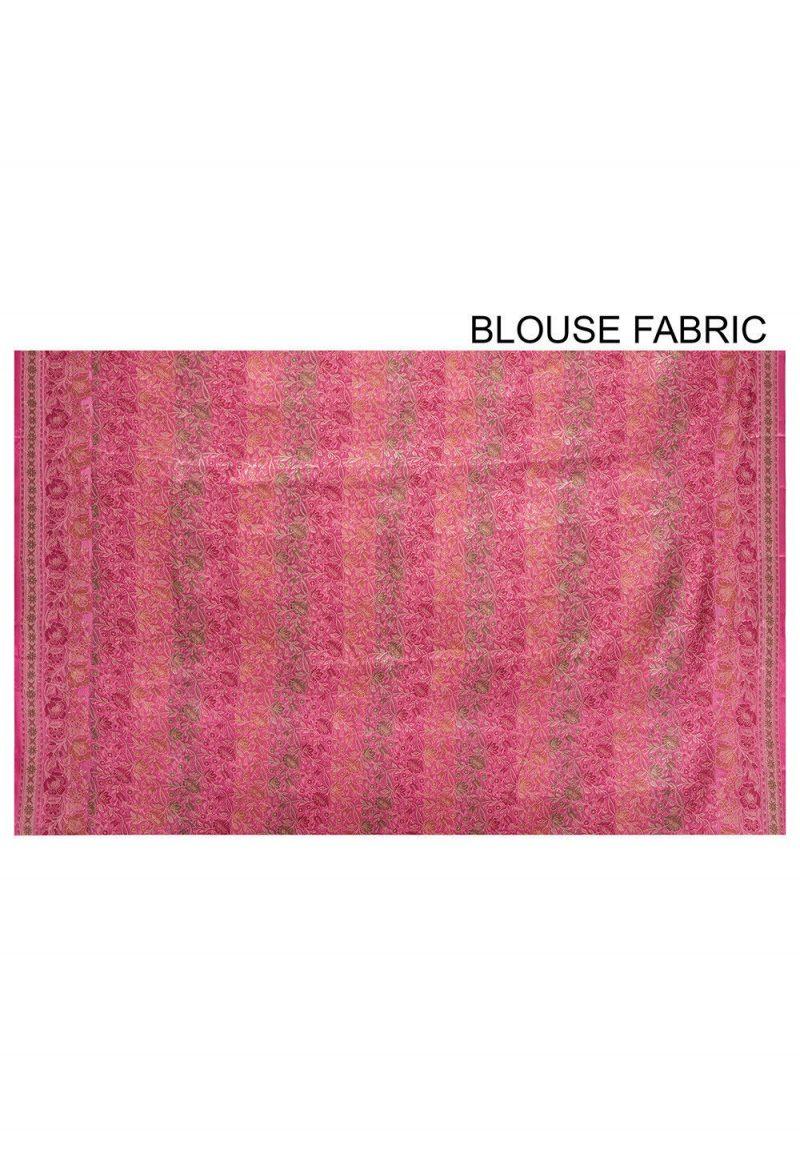 Pure Tussar Silk Banarasi Saree in Pink 3