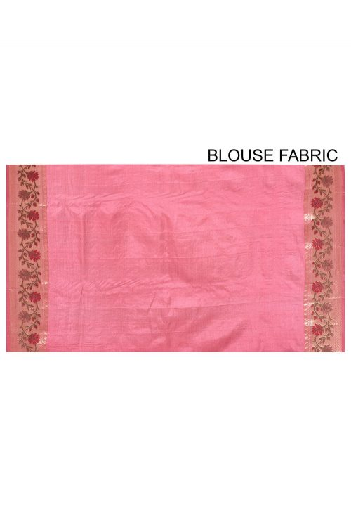 Pure Tussar Silk Banarasi Saree in Pink 6