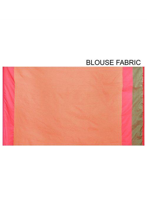 Banarasi Cotton Silk Saree in Dark Peach 6