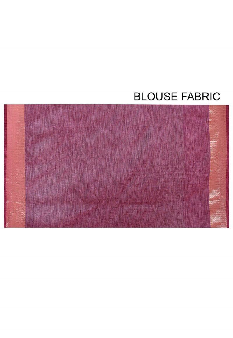 Banarasi Cotton Silk Saree in Dark Peach 3