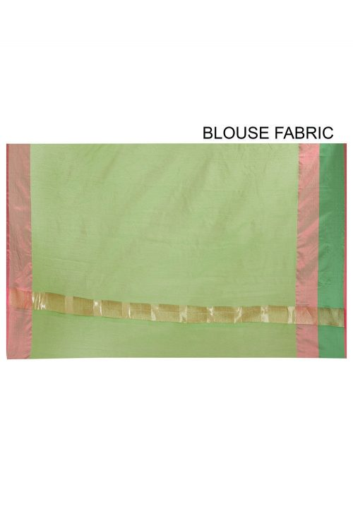 Banarasi Cotton Silk Saree in Green 6