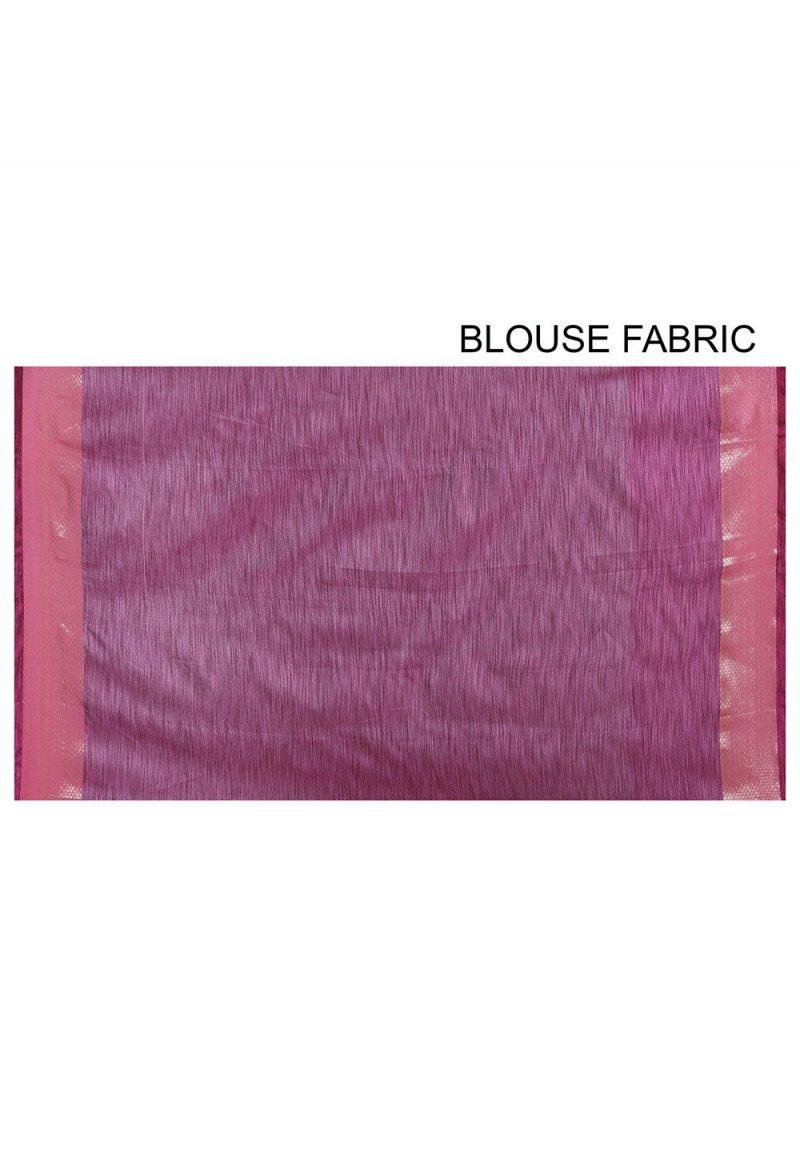 Banarasi Cotton Silk Saree in Green 3