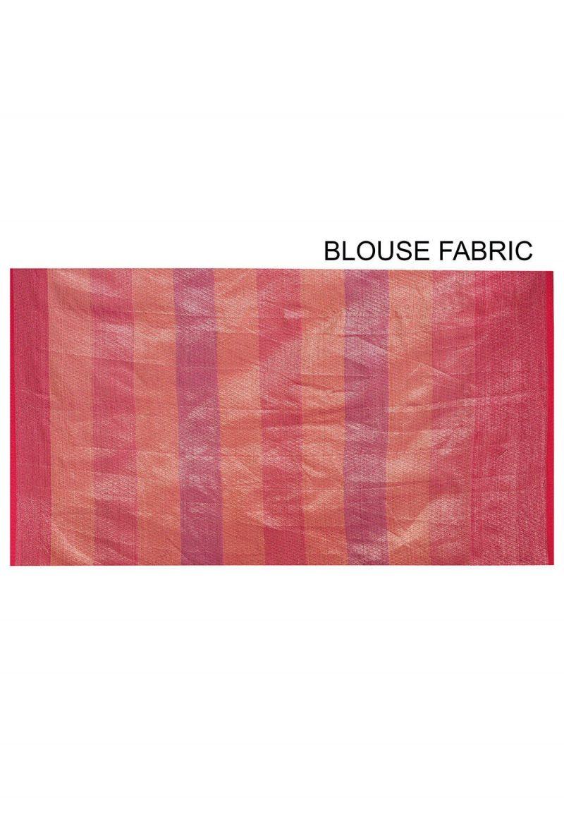 Banarasi Cotton Silk Saree in Multicolor 3