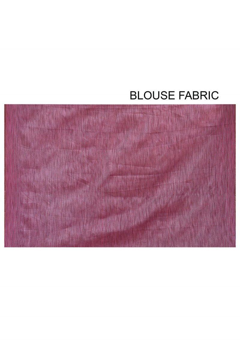 Banarasi Cotton Silk Saree in Pink 3