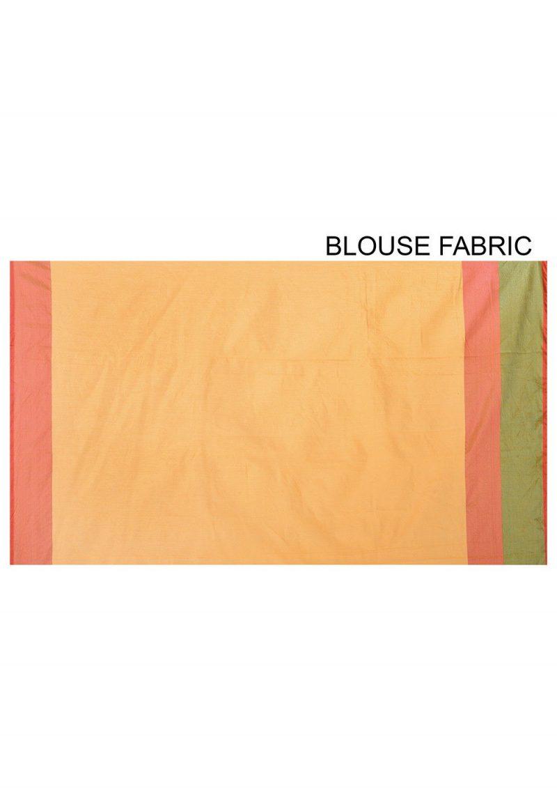 Banarasi Cotton Silk Saree in Yellow 3