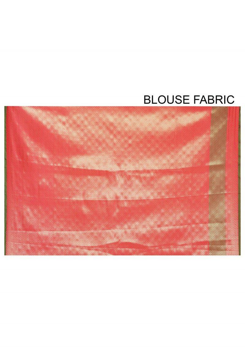 Woven Banarasi Art Silk Saree in Red 3
