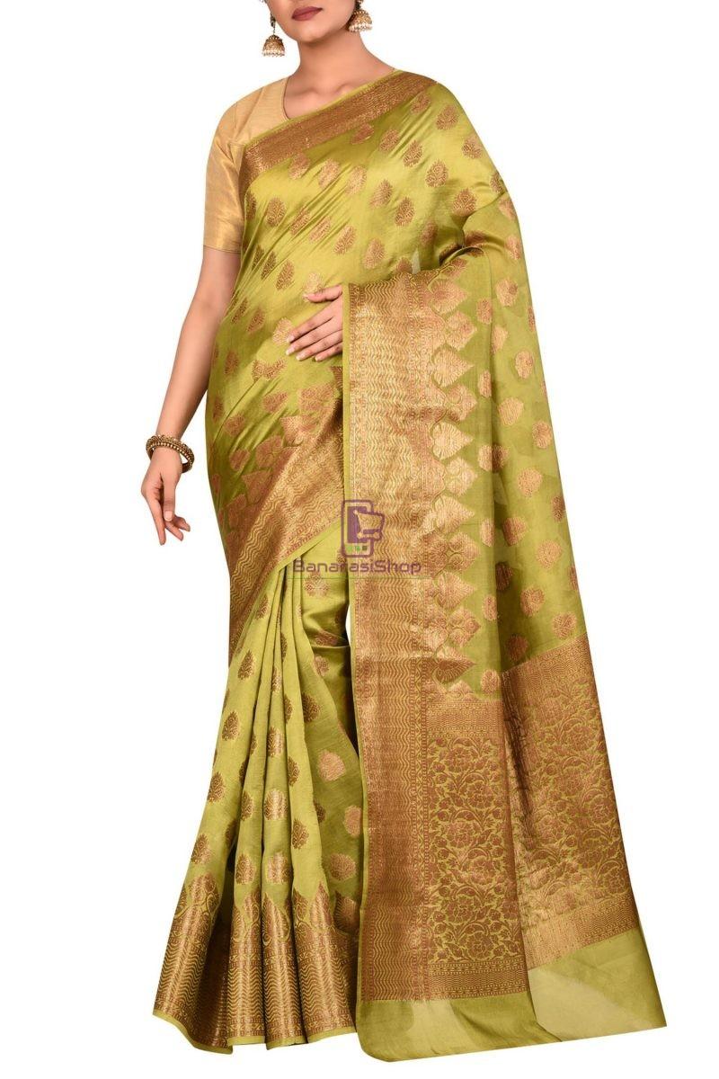 Pure Banarasi Dupion Silk Handloom Saree 1