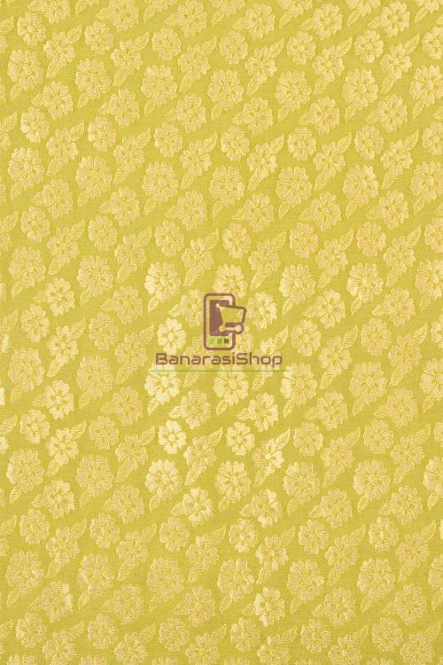 Pure Banarasi Handpainted Muga Silk Handloom Saree in Orange 3