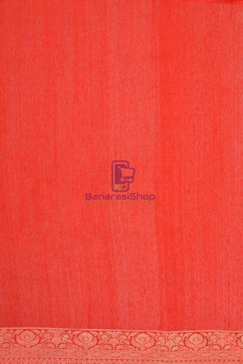 Pure Banarasi Tussar Handwoven Black Silk Saree 3