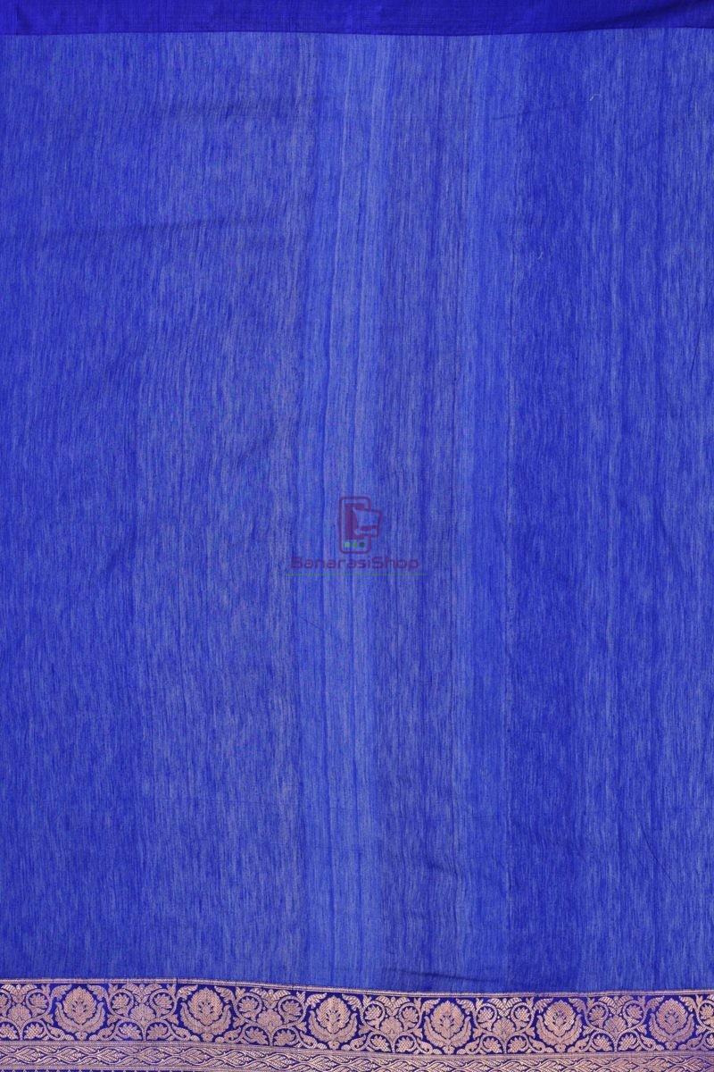 Pure Banarasi Tussar Handwoven Purple Silk Saree 2