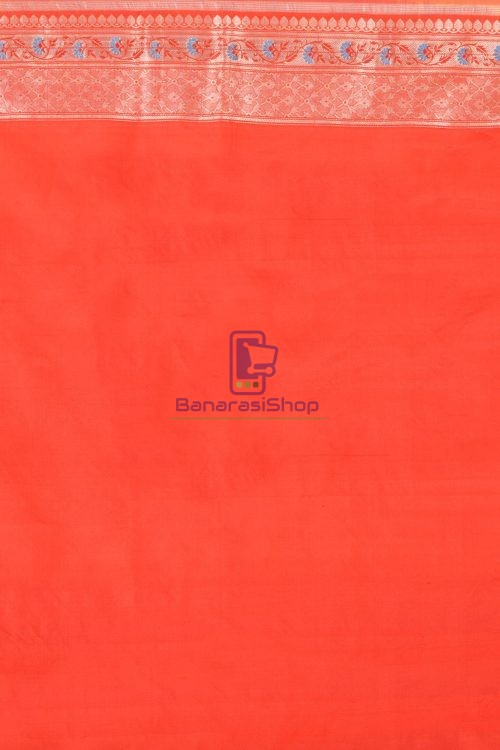 Pure Banarasi Uppada Handloom Silk Saree in Green 3