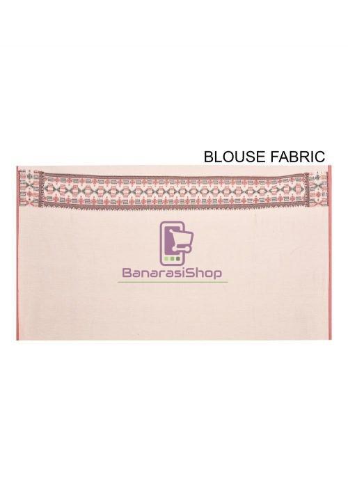 Woven Banarasi Cotton Silk Saree in White 6