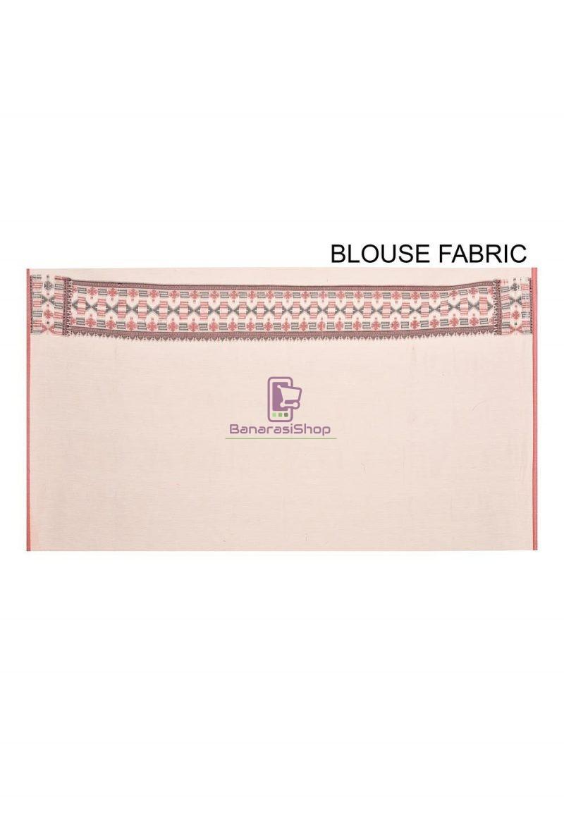 Woven Banarasi Cotton Silk Saree in White 3