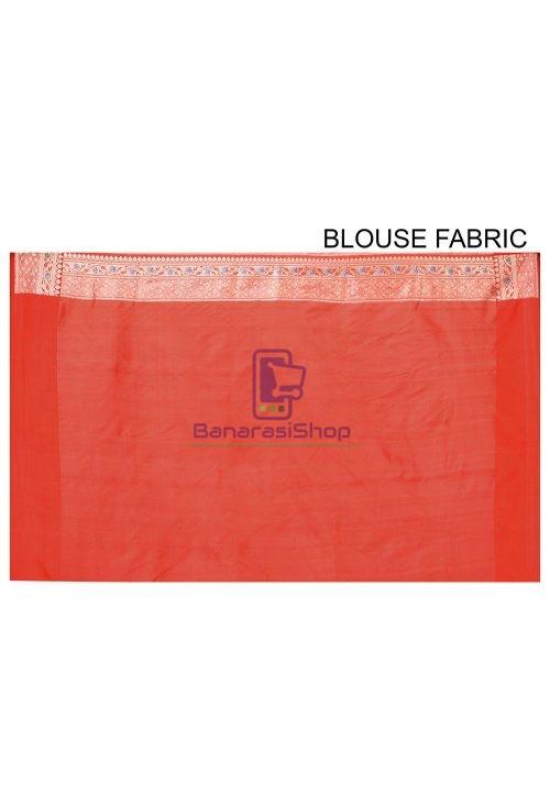 Pure Banarasi Katan Silk Handloom Saree in Light Green 6